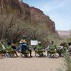 Class lecture in the Grand Canyon